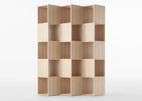 Ein sonderbares Bücher Regal holz interessant design