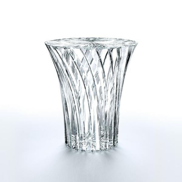 strahlendes glas design asiatisch stil gestalter kartell hocker