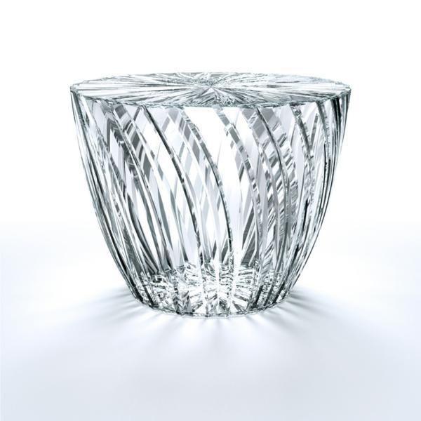 Beistelltisch Glas Design strahlendes glas design tokujin yoshioka möbel aus glas