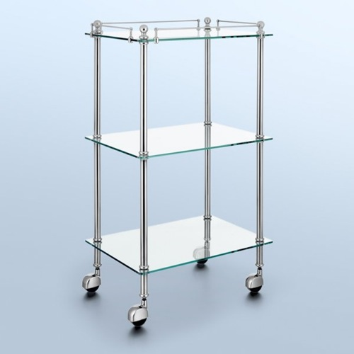 klare designer möbel aus glas regale rollen
