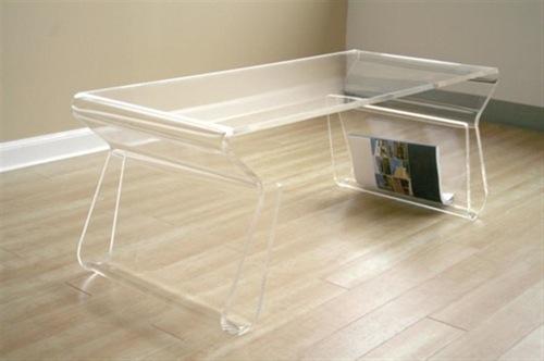 durchsichtige möbel designs aus glas tisch sachlich
