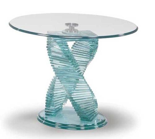 durchsichtige möbel designs aus glas tisch
