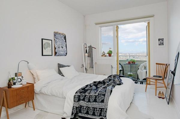 Trendy apartment in stockholm schwarz weiße einrichtung