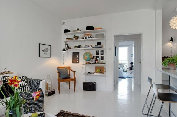 cooles apartment design holz platten bodenbelag weiß