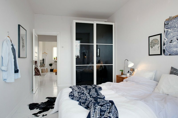 cooles apartment design schlafzimmer modern ausstattung schwarz weiß