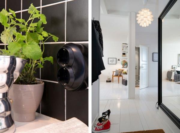 trendy apartment schwarz badezimmer fliesen