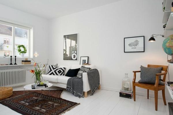 Trendy Apartment in Stockholm - schwarz-weiße Einrichtung