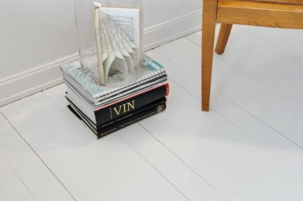 cooles apartment design weiß fußboden platten lesen bücher