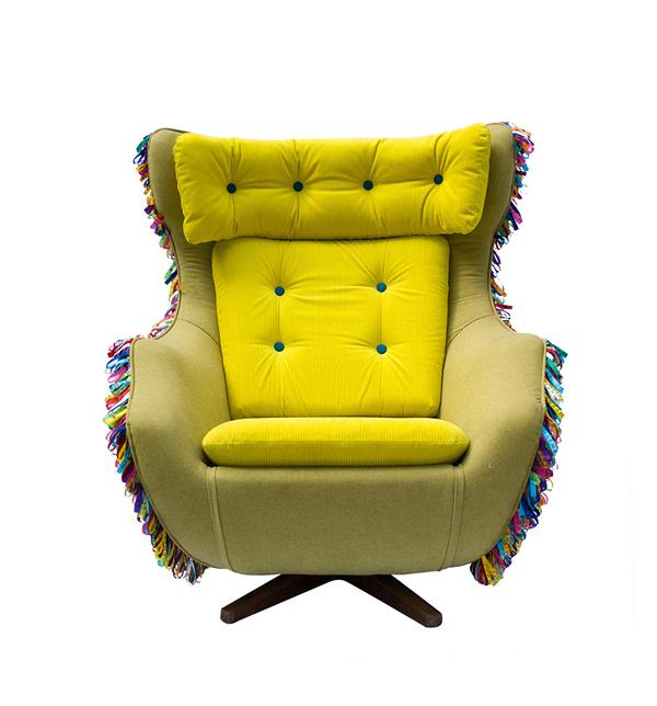 gelb samt türkis knöpfe polsterung sitzkissen auflagen grasgrün