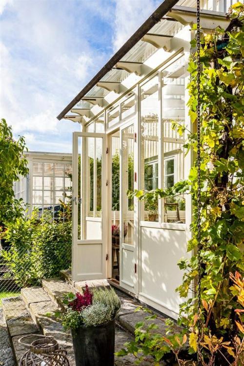 vintage veranda aus glas wintergarten idee sonne