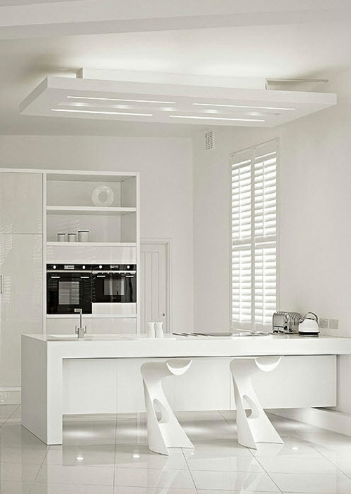 Weiße Interior Design Ideen wirken pur und frisch auf die Sinne