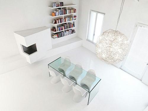 weiße interior design ideen studio glanzvoll bad schlafzimmer akryl glas esszimmer