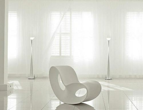 ganz weiße interior design ideen studio glanzvoll sessel modern
