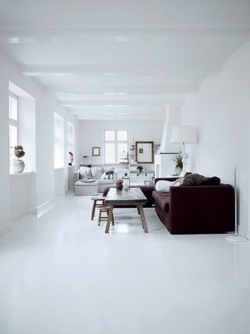 schneeweiße interior design ideen studio glanzvoll wohnbereich sofa