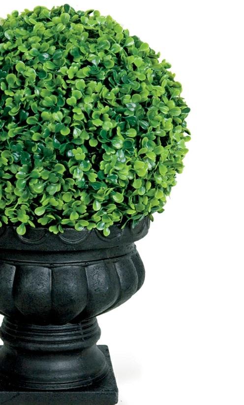 wohnbereich im garten gestalten immergrüne pflanzen
