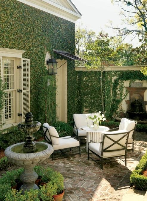 wohnbereich im garten gestalten sitzplatz weiß möbel designs