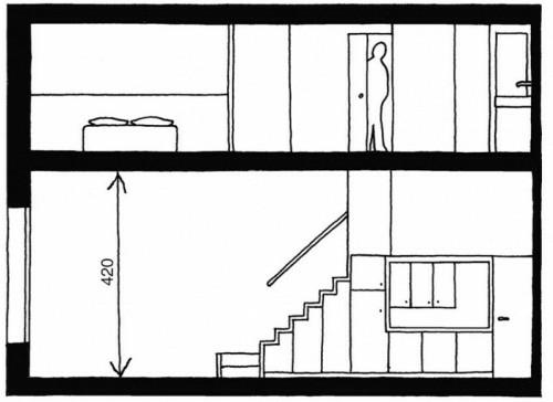 Coole platzsparende Lagerung Ideen im Treppenhaus entwurf