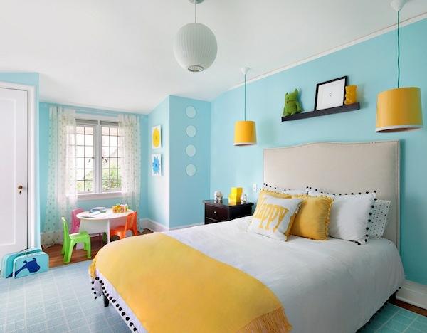 das kinderzimmer interior mit leuchtenden farben erfrischen, Schlafzimmer design