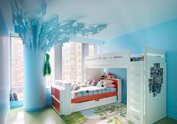 Innovative Designer Ideen Fürs Kinderzimmer Feminine Meerblaue Farbe