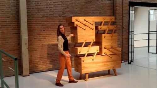 Ausstellung und Präsentation von der Designerin