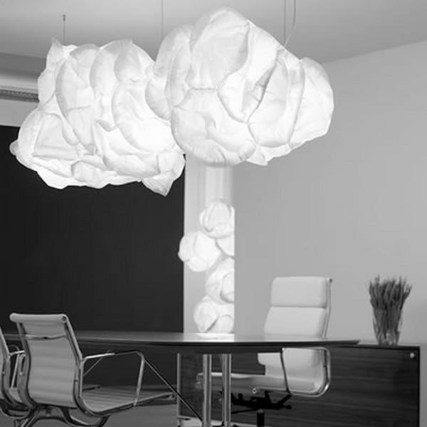 Originelle Pendelleuchten Designs im Esszimmer wolken weiß