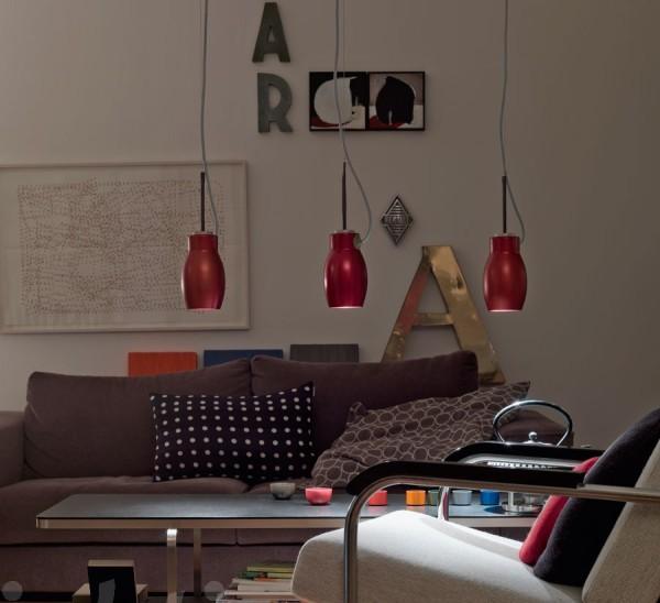 Originelle Pendelleuchten Designs rot lampenschirm