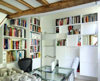 renovierte maisonette wohnung im herzen von paris trendy. Black Bedroom Furniture Sets. Home Design Ideas