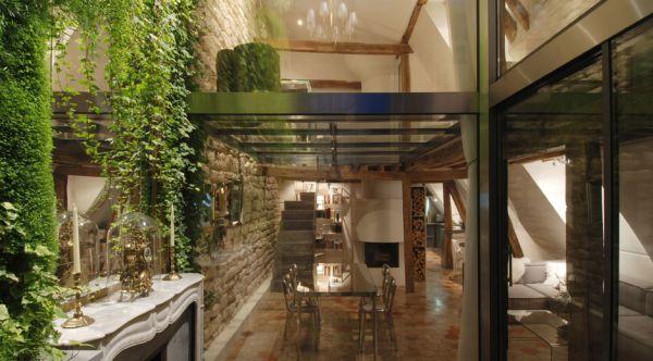 renovierte maisonette wohnung im herzen von paris - trendy wohnsitz, Innenarchitektur ideen