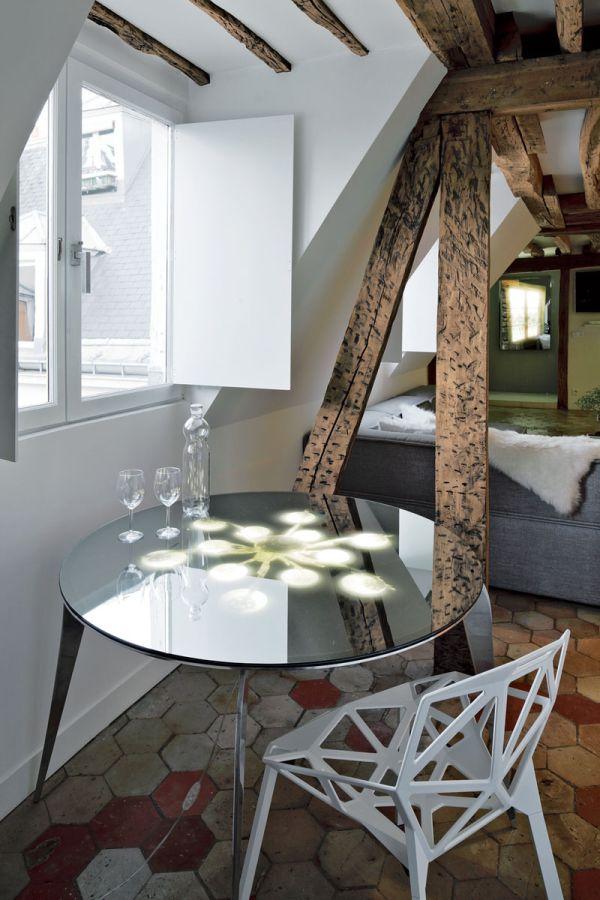 Renovierte Maisonette Wohnung Herzen Paris eigenartig apartment
