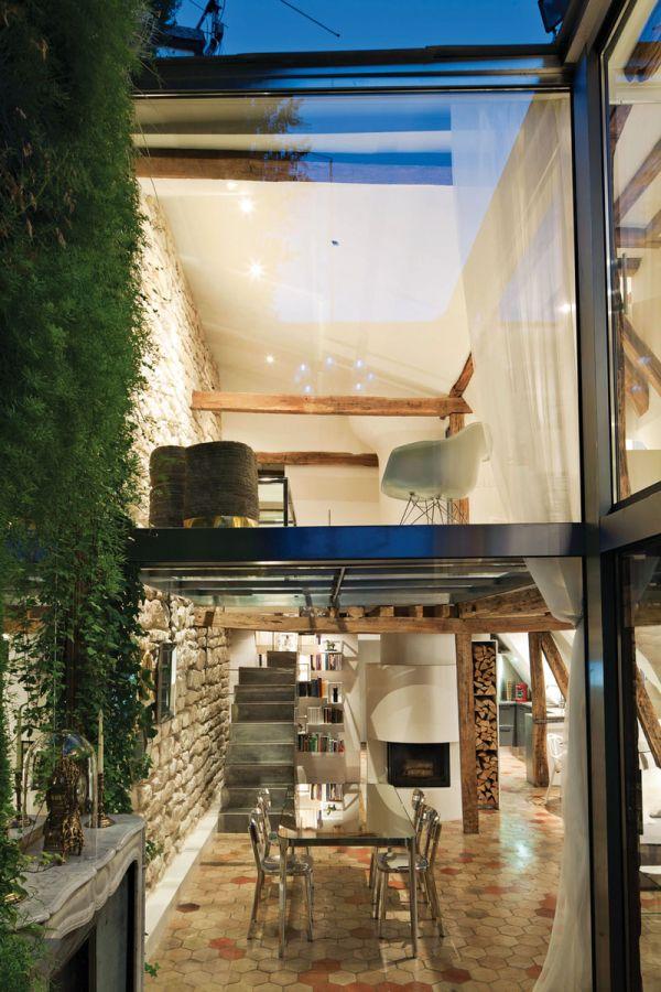Renovierte Maisonette Wohnung Herzen Paris fenster steinwände