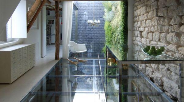 Renovierte Maisonette Wohnung Herzen Paris glas oberflächen
