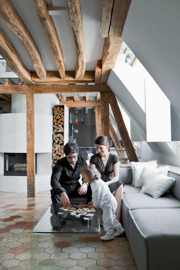 Renovierte Maisonette Wohnung Herzen Paris wohnzimmer