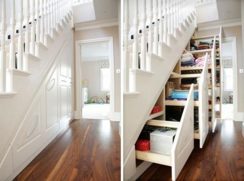 sch ne praktische lagerraum ideen unter der treppe. Black Bedroom Furniture Sets. Home Design Ideas