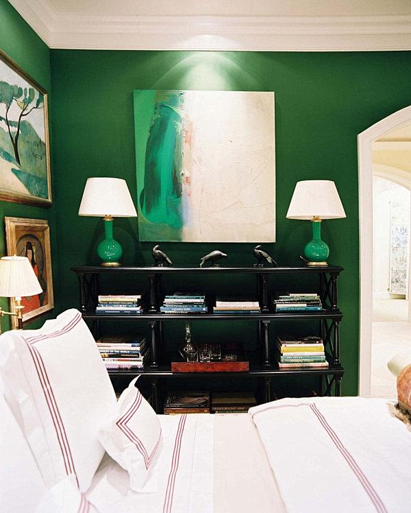 Wand Farben im Schlafzimmer, die ins Auge springen