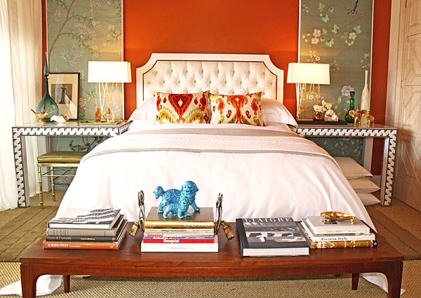 wand farben im schlafzimmer, die ins auge springen - Schlafzimmer Orange Weis