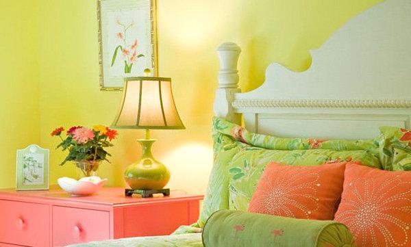 wand farben im schlafzimmer, die ins auge springen - Schlafzimmer Farbe Orange