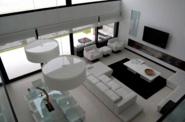 wohnzimmer weiß schwarz:wohnzimmer schwarz weiss : aktuelle haus design trends weiß schwarz