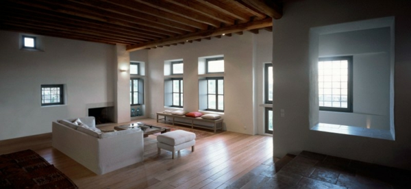 antikes designer haus stein wohnzimmer weiß