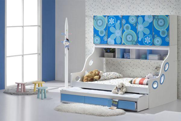 kinderzimmer wand blau ~ ideen für die innenarchitektur ihres hauses - Kinderzimmer Wand Blau