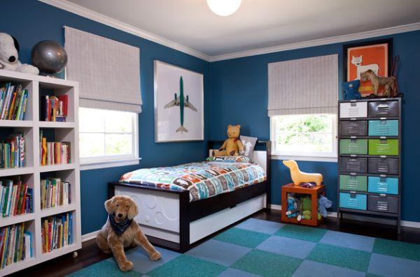 ausziehbare hochbetten im kinderzimmer - 24 originelle ideen - Kinderzimmer Wand Blau