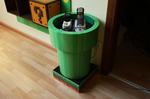 b cher regale im kinderzimmer von super mario inspiriert. Black Bedroom Furniture Sets. Home Design Ideas