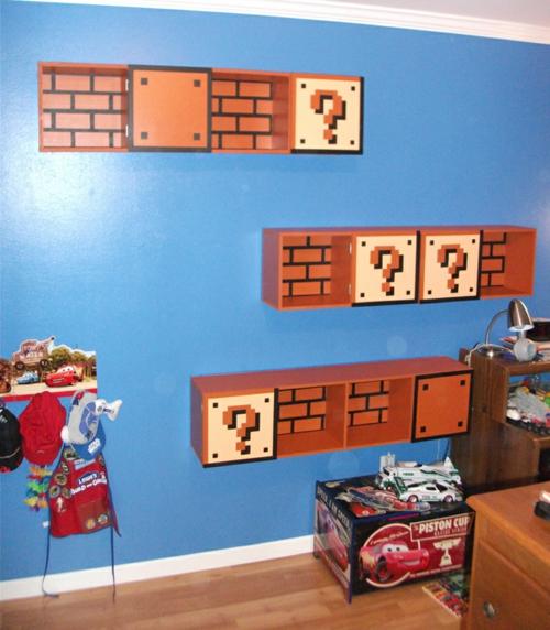B 252 Cher Regale Im Kinderzimmer Von Super Mario Inspiriert