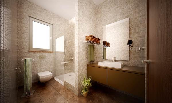 badezimmer interior design ideen glaswände elegante ideen