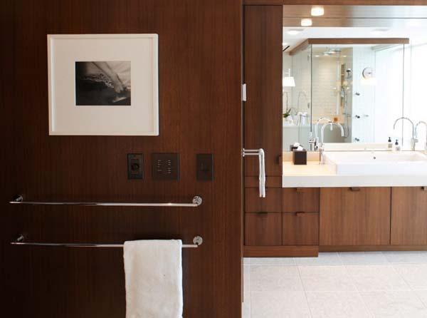 elegante badezimmer interior design ideen glaswände extravagant holz einrichtung
