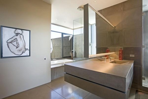 Elegante Badezimmer Interior Design Ideen glaswände fliesen minimalistisch