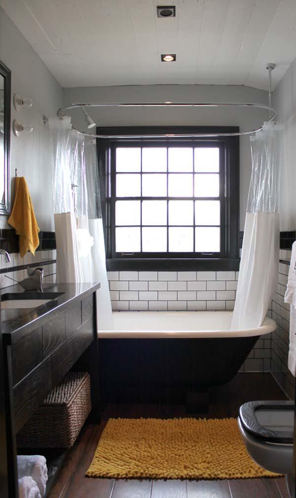 badewanne gardinen fenster idee interior design im badezimmer cooles ambiente