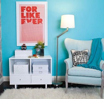 Blaue Farbpalette Im Lebhaften Interior Design U2013 Schicke, Entspannende  Atmosphäre Zu Hause