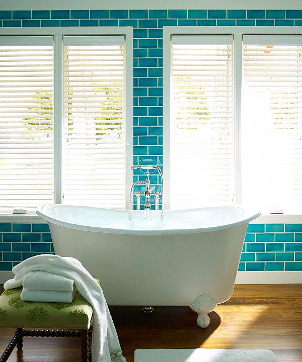Blaue Farbpalette Im Lebhaften Interior Design