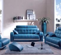 Blaue Farbpalette im lebhaften Interior Design – schicke, entspannende Atmosphäre zu Hause