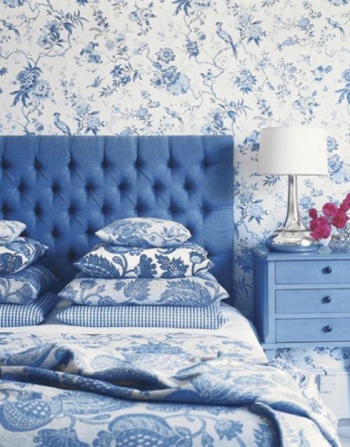 schlafzimmer möbel kopfteil samt kopfkissen floral muster